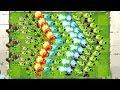 Plants vs Zombies 2 Mod ALL PEA MAX LEVEL POWER-UP! vs GARGANTUAR, Newspaper, Jester, Excavator