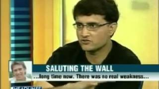 Sourav Ganguly talks about Rahul Dravid's retirement