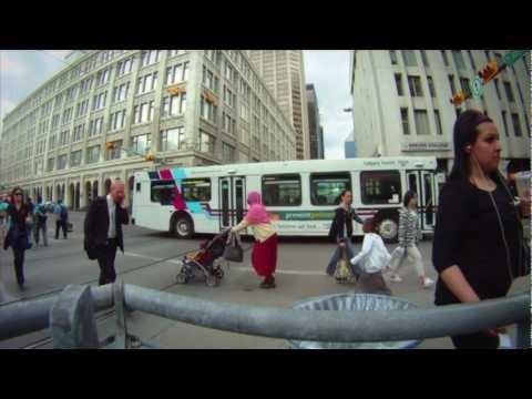 Commuter Challenge 2010 Canada Calgary Edmonton Vancouver Toronto Montreal Winnipeg Timelapse Video