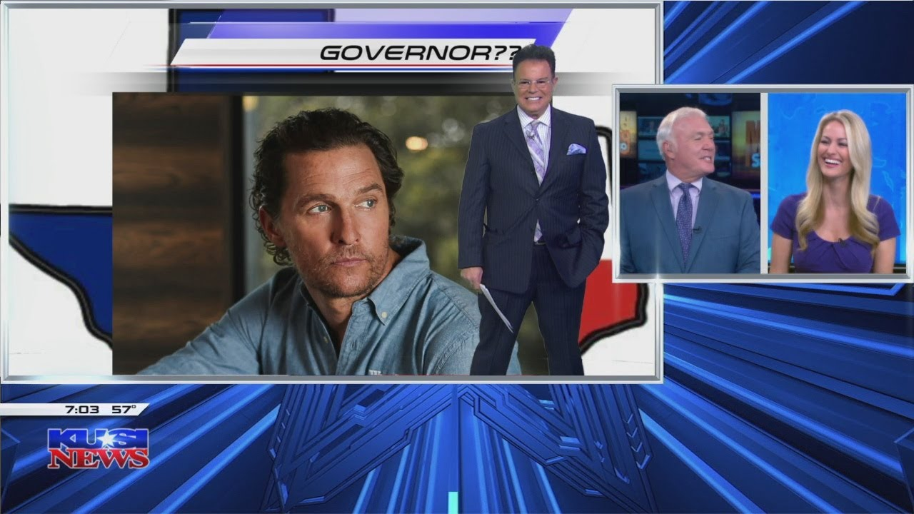 Does Matthew McConaughey plan to run for governor in Texas?
