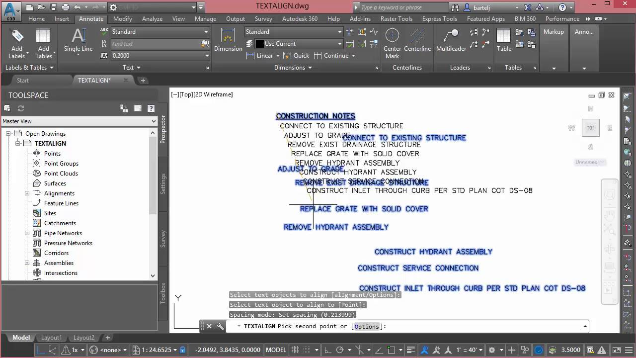 Carte Icom Barcelone.Using The Textalign Command In Autocad Based Products Youtube
