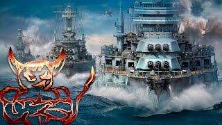 World of Warships - Во всей красе линкоры дно, союзники днища.