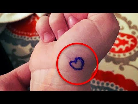 Here's What It Means If You See A Child With A Tiny Heart Drawn On Their Wrist.