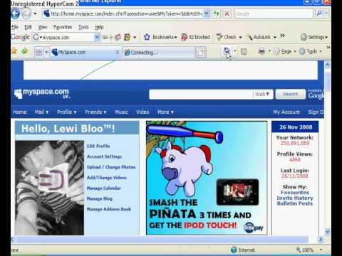 Myspace Help#1-Adding Myspace Layouts