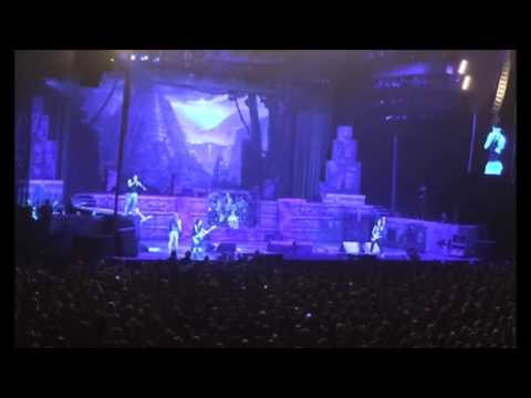 Maiden's Bruce Dickinson rants at unruly fan, who gives Bruce the finger, Bruce asks him backstage!
