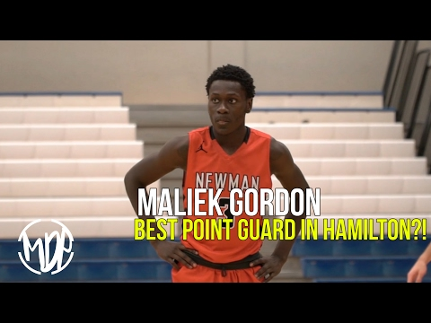 Maliek Gordon BEST Point Guard In Hamilton!? OFFICIAL Senior Year Mixtape!