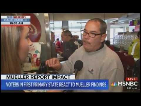 Trevor Carey - Voter to MSNBC on Mueller Report: Dems Need to Move on and Just Drop It