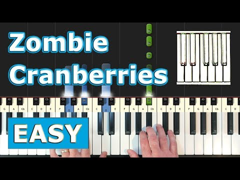 The Cranberries - Zombie - Piano Tutorial EASY - Sheet Music (Synthesia)