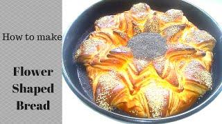 Pogaca suncokret-Flower shaped bread