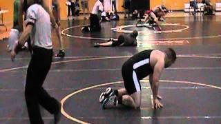 172lb wrestler wrestling and pin 215lb opponent