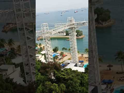 Expireince  ride in sky cable wire in singapore
