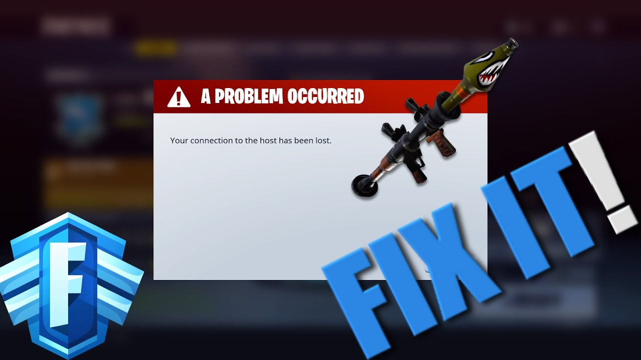 your connection to host has been lost fortnite how to fix - fortnite save the world network connection lost ps4