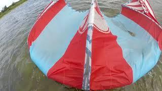 Kiteboarding - samodzielny start z wody. Self launching