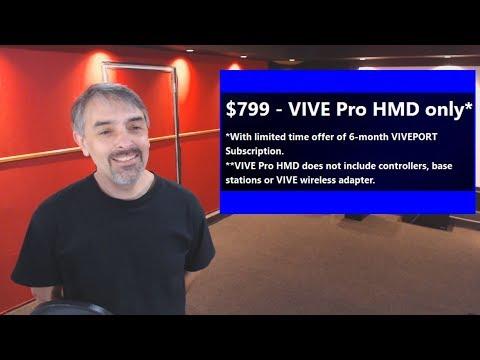 Sticker Shock Confirmed! - Regular Vive $499 - VR Game Rankings - Ep121 - 3 19 18