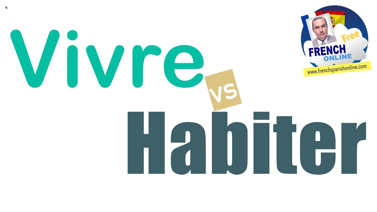 to live in French : Vivre vs Habiter - YouTube