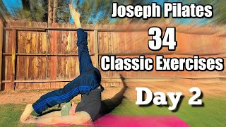 FULL PILATES 34 CLASSIC MAT EXERCISES (My 2nd attempt)