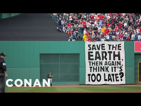 More Poorly Written Protest Signs At Fenway Park  - CONAN on TBS