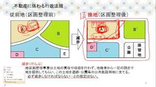 土地区画整理法②~土地区画整理事業、仮換地、換地処分の効果などの解説動画です。