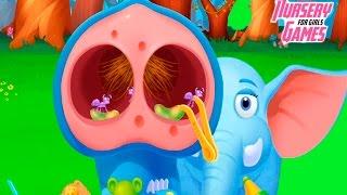Спасаем и лечим животных из ДЖУНГЛЕЙ Веселая игра для детей Jungle Doctor Kids Game for Girls