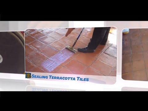how to clean unsealed terracotta tiles