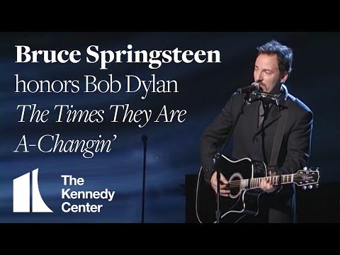 The Times They Are A-Changin' (Bob Dylan Tribute) - Bruce Springsteen - 1997 Kennedy Center Honors