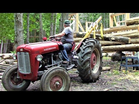 Logging Upgrade! Tractor Boom Pole- Log Cabin Update- Ep 10.12