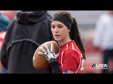 Female quarterback Madeleine Northern out to prove she belongs