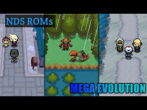 Top 3 POKEMON NDS ROMs With MEGA EVOLUTION!!