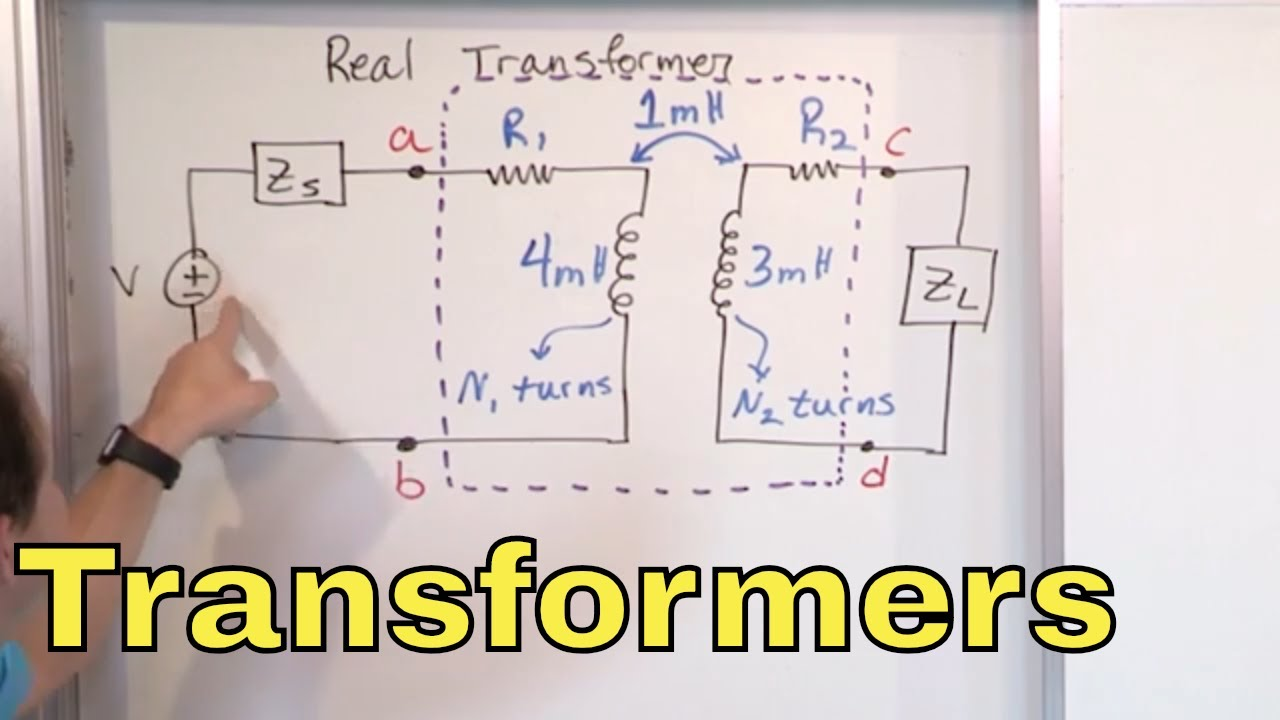 02 - What is a Transformer & How Does it Work? (Step-Up & Step-Down  Transformer Circuits) - YouTubeYouTube