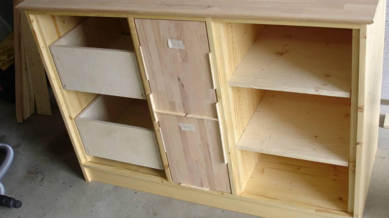 Küchen Schrank Aus Holz Selber Bauen