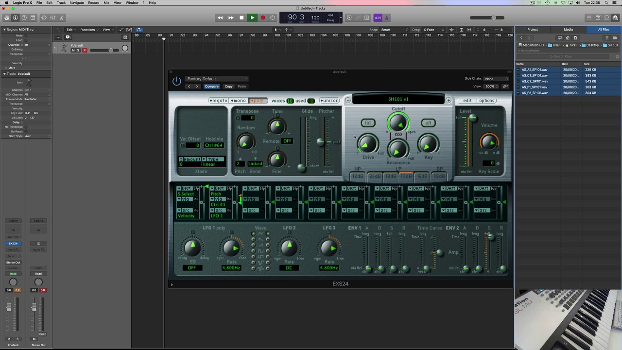 EXS24 - Automapping Multi-Sample Instrument Patch m4v
