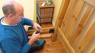 How to convert a wood framed bed for Inclined Bed Therapy (IBT)