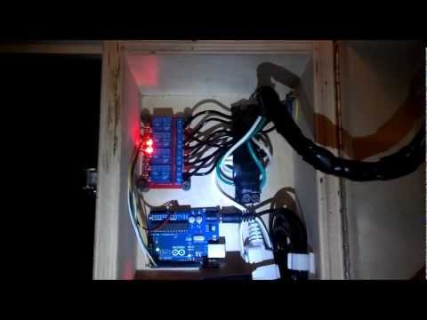 Arduino - Relay - 120V 4 Way Outlet - For Halloween Lights - YouTube