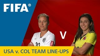 USA v. Colombia - Team Lineups EXCLUSIVE