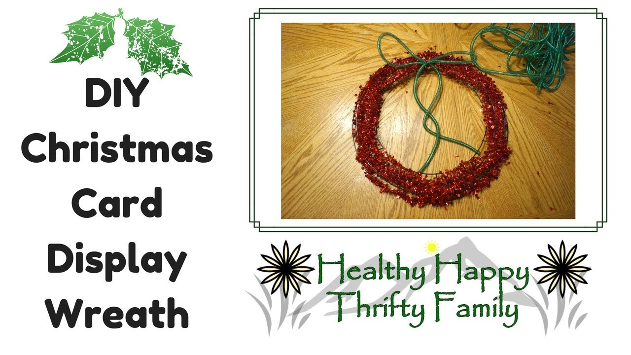 DIY Christmas Card Display Wreath
