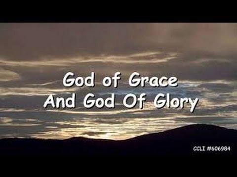 God of grace and god of glory organ