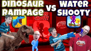 Dinosaur Rampage 🦖 vs Water Shooty 🔫 Gameplay and Review