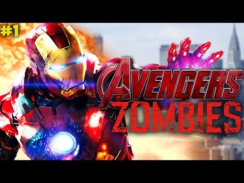 """IRON MAN, SPIDERMAN & MORE IN ZOMBIES!"" - Call of Duty ""AVENGERS"" ZOMBIES Custom Map PART #1!"