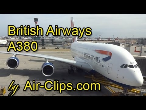 British Airways A380 full flight & BA B787 views! All cabins! [AirClips full flight series]