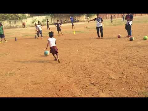 "Cute kids in ""Dreaming In A Slum"" Practicing football."