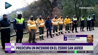 Preocupa un incendio en el Cerro San Javier