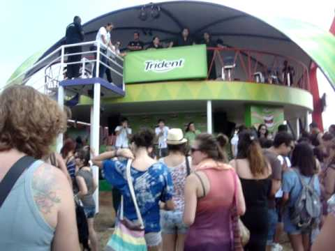 Karaoke da Trident no Lollapalooza! Oh if i catch you