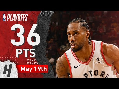 Kawhi Leonard  Game 3 Highlights Raptors vs Bucks 2019 NBA Playoffs - 36 Pts 5 Ast 9 Reb