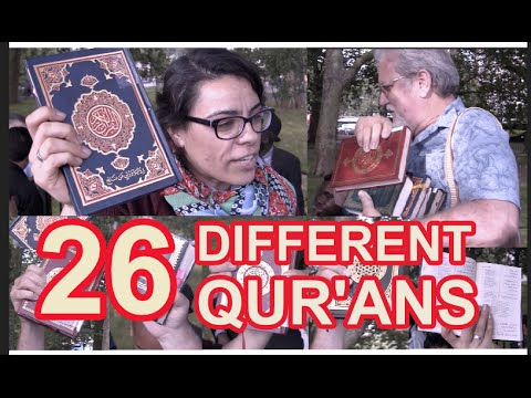 THE 26 DIFFERENT ARABIC VERSIONS OF THE QUR'AN