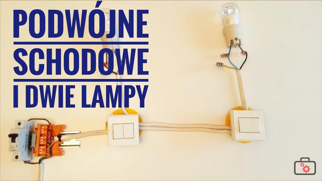 Przełącznik Schodowy Podwójny W Układzie Z Dwoma Lampami