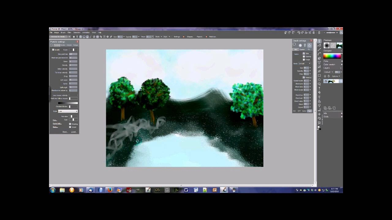 PDHowler Basics - Project 1- Using Basic Brushes and Particles
