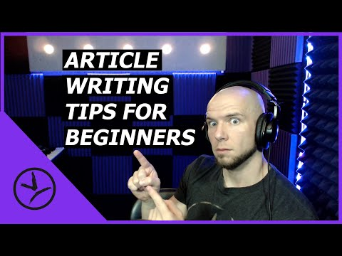 5 Article Writing Tips for Beginners! - Freelance Writing Tips