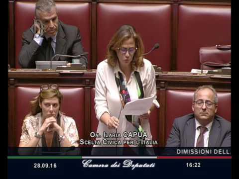 Camera dei deputati: le dimissioni di Ilaria Capua