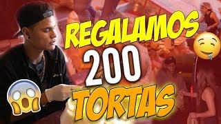 REGALAMOS 200 TORTAS EN LA CALLE | SoyFranciscoALV FT ANDREA ZUÑIGA