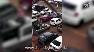 Briga de torcidas após eliminação do Atlético no Campeonato Goiano 2018